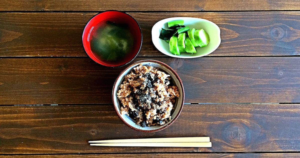 酵素玄米とみそ汁、ぬかづけで回復期