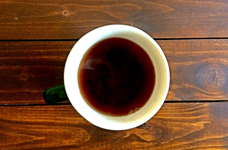 黒炒り玄米コーヒーを一緒に